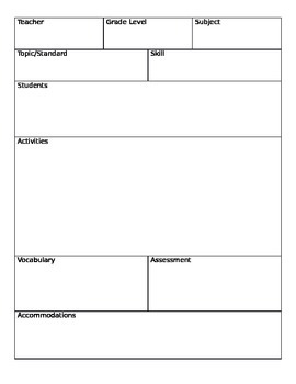 Small Group Planner