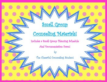 Small Group Planning Materials