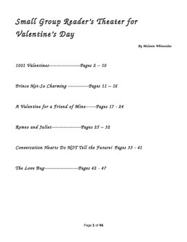 Valentines Day Pack:Reader's Theater for Small Groups and