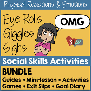 Small Group Counseling Social Skills Bundle for Emotions a