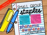 Small Group Staples: Phonemic Awareness Intervention Curriculum