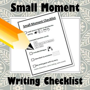 Small Moment Checklist