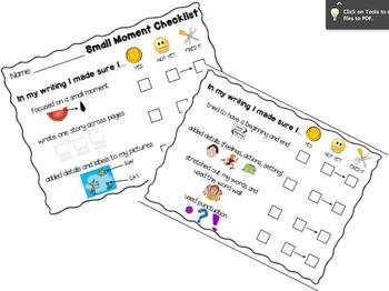 Small Moment Student Checklist