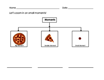 Small Moment Writing Pizza Sort