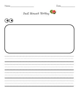 Small Moment Writing Rough Draft Book