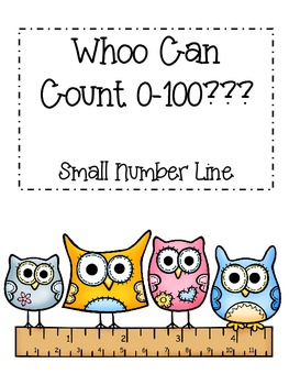 Owl Theme Small Number Line 0-100