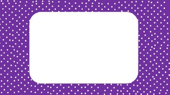 Small Polka Dot Power Point Template