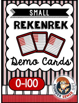 Small Rekenrek Cards