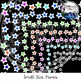 Small Stars Frames Clipart Bundle