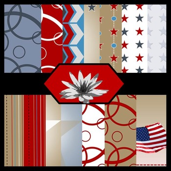 Small Town America [Digital Paper Background Set}