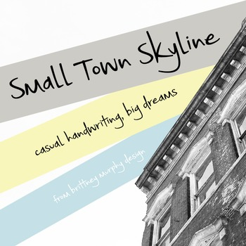 Small Town Skyline Font for Commercial Use