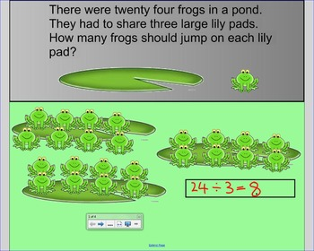 Smart Board Division Word Problems