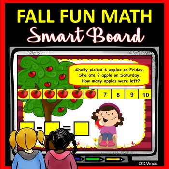 SMART Board Math for Fall:  Apple Counting, Addition, Subt
