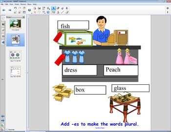 Smart Board Grammar: Adding -es to Make Words Plural