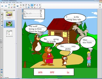 Smart Board Grammar: Verbs Am, Are, and Is