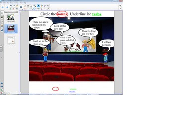 "Smart Board Grammar: Verbs and Nouns ""Let's go to the Movies"""