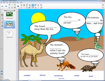 Smart Board Grammar: Verbs that Appeal to the Senses