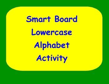 Smart Board Lowercase Handwriting Activity