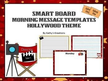 Smart Board Morning Message Templates  Hollywood/Movie