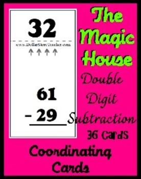 Smart Chute Style Cards - Magic House - Double Digit Subtr