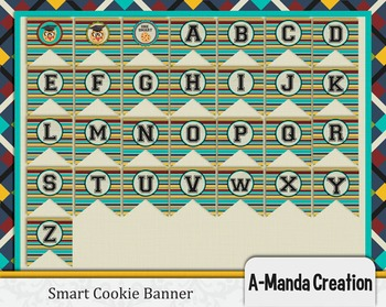 Smart Cookie Graduation printable full alphabet banner