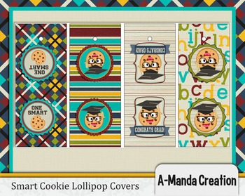 Smart Cookie Graduation printable lollipop covers