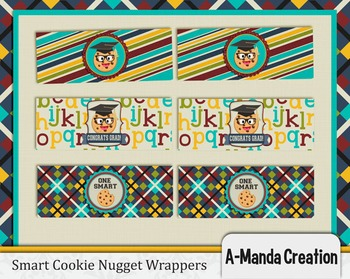 Smart Cookie Graduation printable nugget wrappers