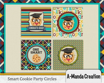 Smart Cookie Graduation printable party circles