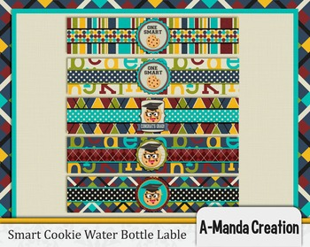 Smart Cookie Graduation printable water bottle wrappers