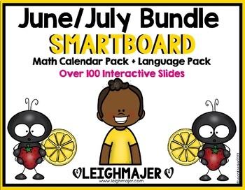 2017 Smart Kinder Kids Bundle - June/July Smartboard Calen