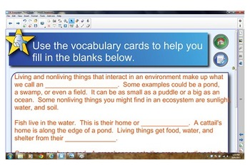 Smart Notebook Lesson for Animal Ecosystems