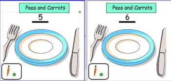 Smart Notebook: Peas and Carrots (Combinations of numbers 5-10)