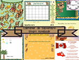 Smart Notebook September Calendar Morning Routine in FRENCH