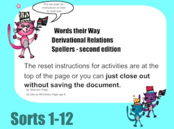 SmartBoard Activity Words Their Way Derivational Spellers