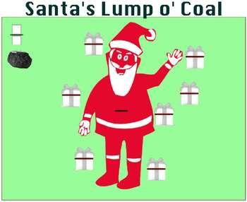 Equivalent Fraction Smartboard Game: Santa's Lump o' Coal!