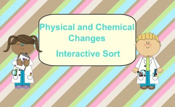 SmartBoard Interactive Physical and Chemical Changes Sort