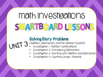 SmartBoard Lessons Unit 3 Math Investigations