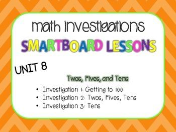 SmartBoard Lessons Unit 8 Math Investigations