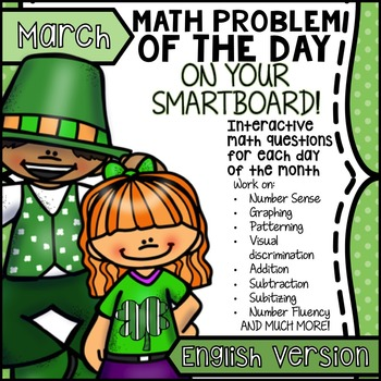 St. Patrick's Day & Spring SmartBoard Math Problem of the