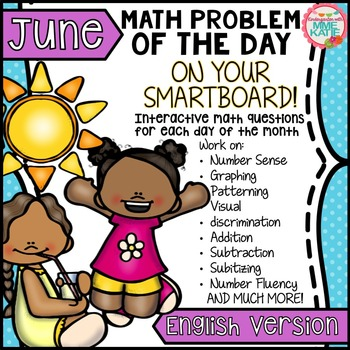 SmartBoard Math Problem of the Day: Summer End of Year Fat