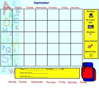 SmartBoard Morning Calendar Activities