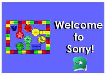 SmartBoard Sorry! Game for Cells and Kingdoms 5th Grade Sc