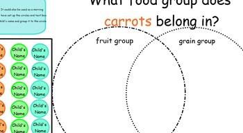 SmartBoard Venn Diagram Morning Questions Attendance