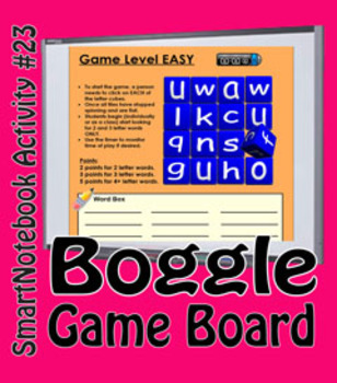 SmartNotebook Boggle Game - Ready to Play - 50% Off