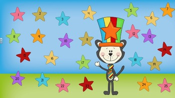 Smartboard Attendance - Cat in a Circus Hat Theme for Smar