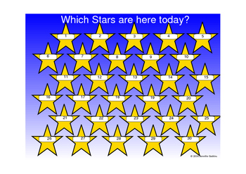 Smartboard Attendance: Stars