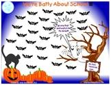 Smartboard Attendance-We're Batty About School-Halloween
