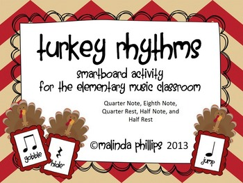 Smartboard: Five Fat Turkeys & Rhythms for the Kodaly or O