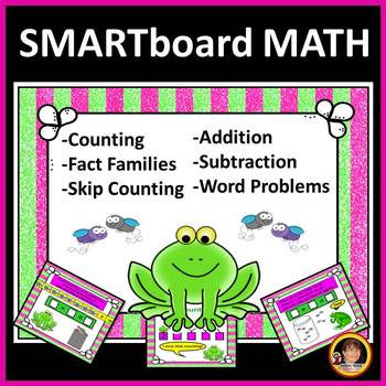 Smart Board Math: Counting, Addition, Subtraction, Word Problems