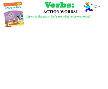 Smartboard Lesson for Introducing and Teaching Verbs